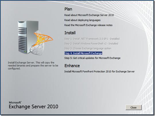 Instalar Exchange